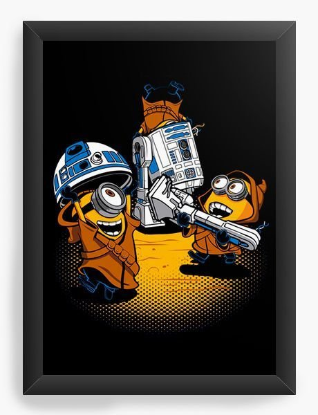 Quadro Decorativo A3 (45X33) Mini Wars - Loja Nerd e Geek - Presentes Criativos