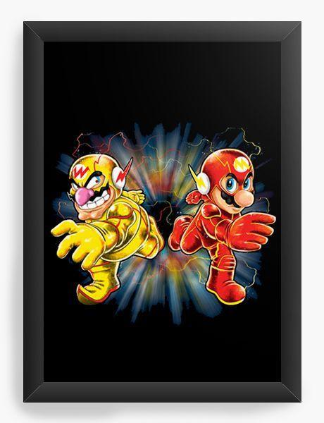 Quadro Decorativo A3 (45X33) Flash Bros - Loja Nerd e Geek - Presentes Criativos