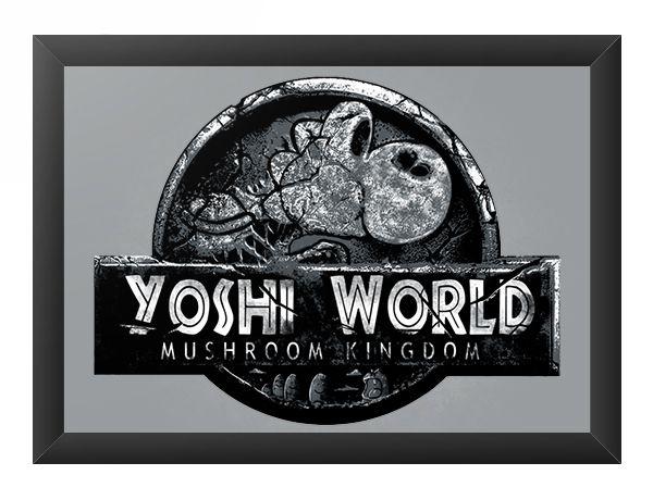 Quadro Decorativo A3 (45X33) Yoshi World - Loja Nerd e Geek - Presentes Criativos