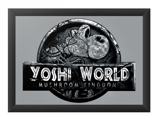 Quadro Decorativo A4 (33X24) Yoshi World - Loja Nerd e Geek - Presentes Criativos
