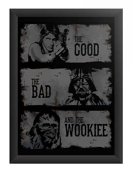 Quadro Decorativo A3 (45X33) The Good - Loja Nerd e Geek - Presentes Criativos