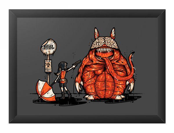Quadro Decorativo A4 (33X24) R-Evil Totoro - Loja Nerd e Geek - Presentes Criativos