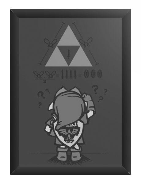 Quadro Decorativo A3 (45X33) Triforce - Loja Nerd e Geek - Presentes Criativos