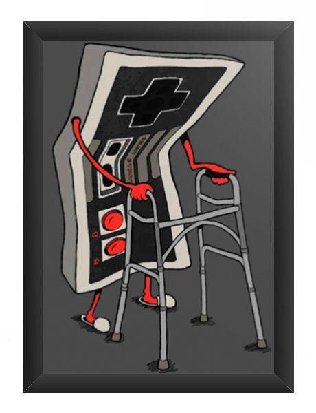 Quadro Decorativo A3 (45X33) Old - Loja Nerd e Geek - Presentes Criativos