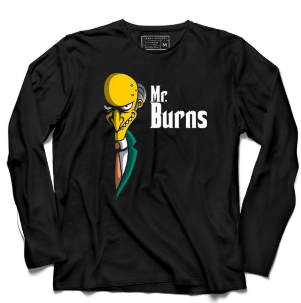 Camiseta Manga Longa Mr. Burns - Loja Nerd e Geek - Presentes Criativos