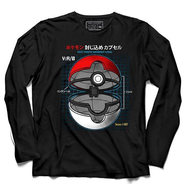 Camiseta Manga Longa Pokemon - Loja Nerd e Geek - Presentes Criativos