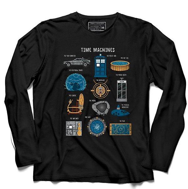 Camiseta Manga Longa Doctor Who Machine - Loja Nerd e Geek - Presentes Criativos