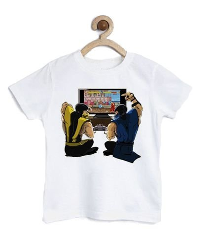 Camiseta Infantil Scorpion Street Fighter - Loja Nerd e Geek - Presentes Criativos