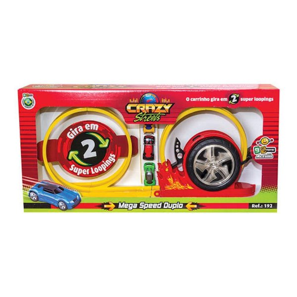 Pista Crazy Mega Speed Duplo Bs Toys