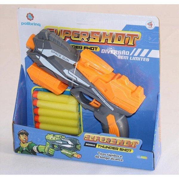 Lançador de Dardos Super Shot Modelo Thunder Shot - Polibrinq