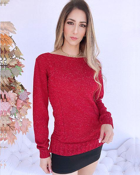 Blusa Tricot Pelinhos  - SK 1107