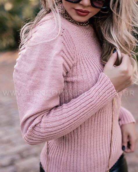 Blusa Tricot Canelada Princesa Inverno 2020- CO