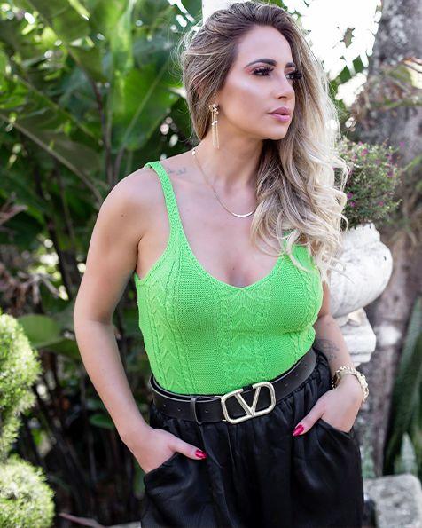 Top Cropped Tricot Sara Verão 2021-SK