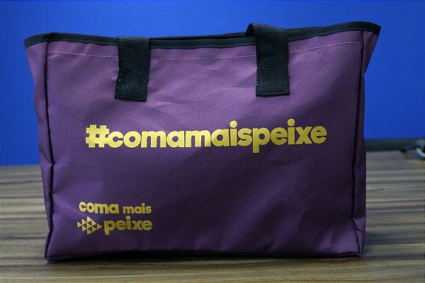 Bolsa Térmica #comamaispeixe - Roxa