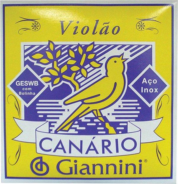 Encordoamento para Violão Giannini Aço com Bolinhas GESWB