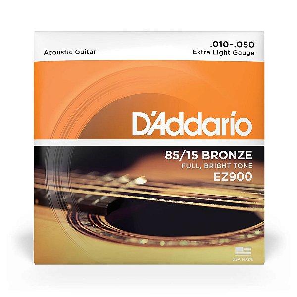 Encordoamento para Violão em Aço D'Addario .010 Bronze EZ900-B