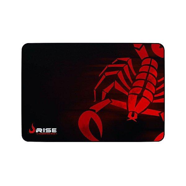 Mousepad Rise Gaming Scorpion Red Grande Borda Costurada RG-MP-05-SR