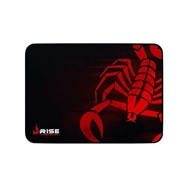 Mousepad Rise Gaming Escorpion Red Médio Borda Costurada RG-MP-04-SR