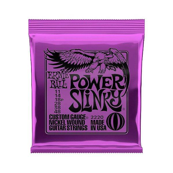 Encordoamento Para Guitarra Ernie Ball .011-.048 Power Slinky