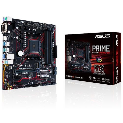 Placa Mãe Asus Prime B450m-Gaming/Br AM4 mATX DDR4