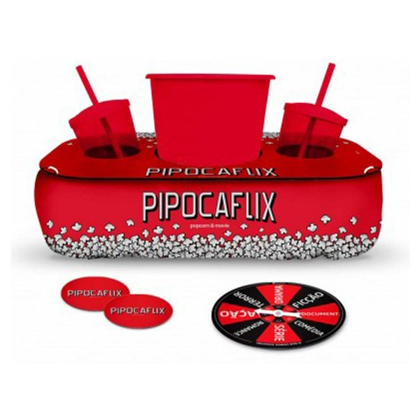 Conjunto Pipoca c/ Porta Copos e Roleta Brasfoot - Pipocaflix