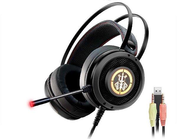 Headset Gamer Kmex AR50 Bope RGB