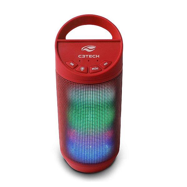 Caixa de Som Bluetooth C3Tech Beat SP-B50 8W Vermelho