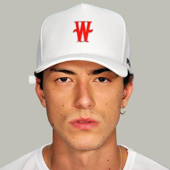 BONE ABA CURVA W RED WHITE DABLIU