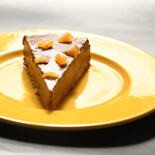 TORTA MOUSSE DE CHOCOLATE E DAMASCO (individual)