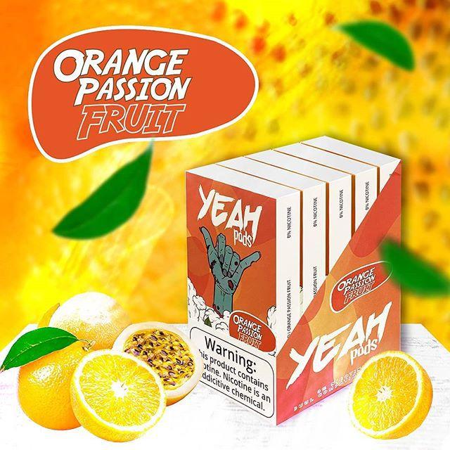 VS - PODs (cartucho) c/ Líquidos P/ JUUL OU YOOP Orange passion fruit YEAH