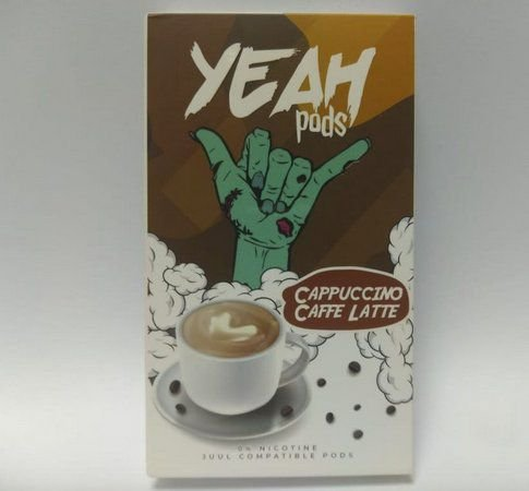 VS - PODs YEAH (cartucho) c/ Líquidos P/ JUUL E YOOP CAPPUCINO CAFFE LATTE