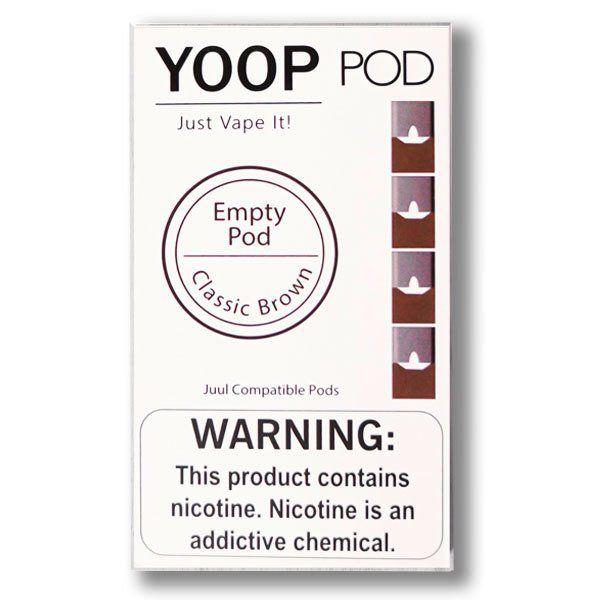 PODs c/ Líquido p/ YOOP - EMPTY CLASSIC BROWN - YOOP