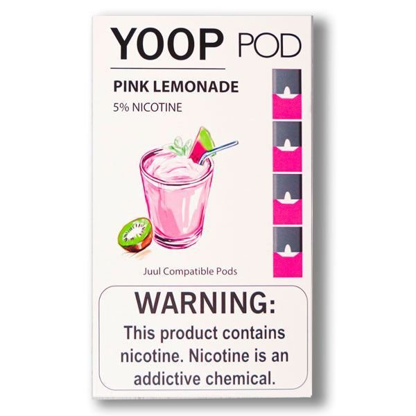 PODs c/ Líquido p/ YOOP - PINK LEMONADE - YOOP