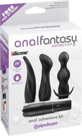 Anal Fantasy - Kit De Plugs Anais Com 3 Plugs e 1 Cápsula Vibratória