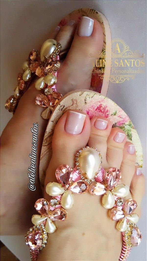 Slim Floral Glitter