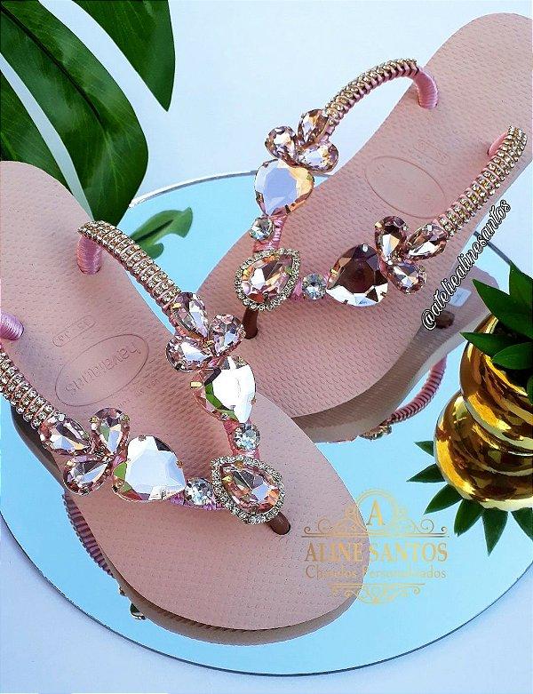 Rosa Ballet Jóia Coração