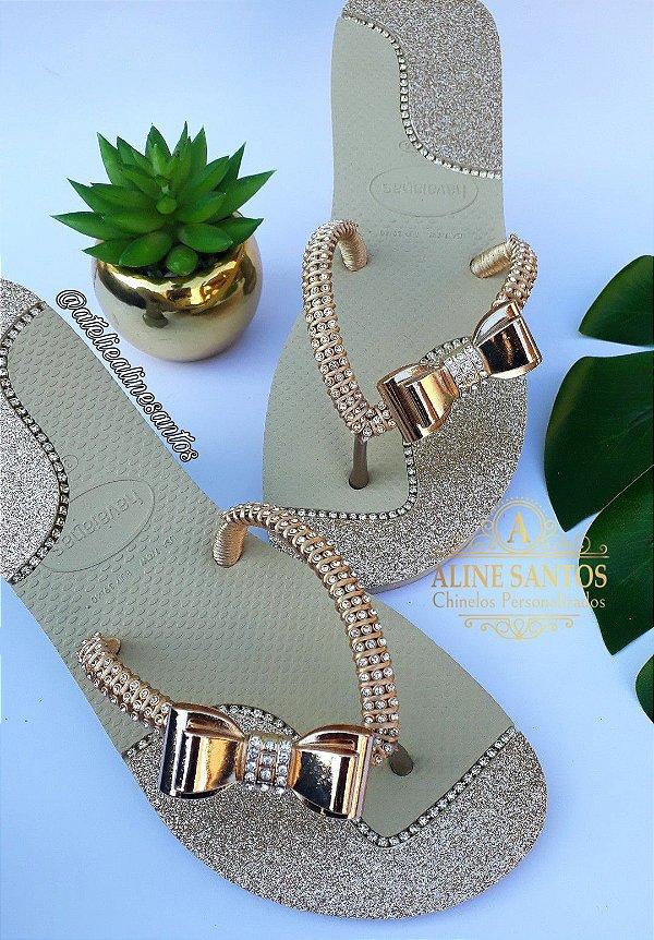 Flat Laço Dourado