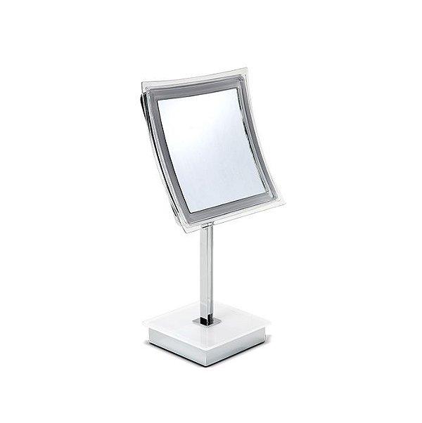 Espelho de Mesa com Iluminação LED Quadrado
