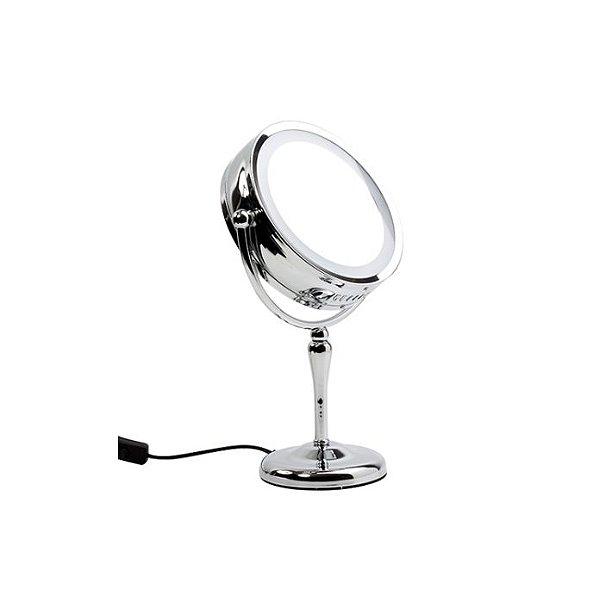 Espelho Duplo de Mesa com Iluminação