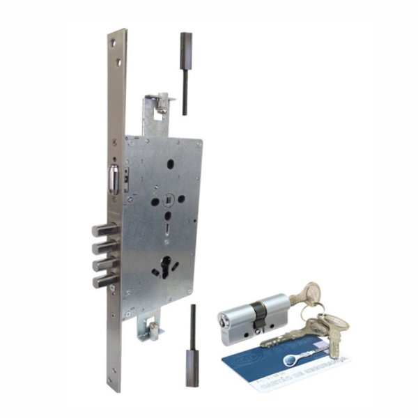 Fechadura de Segurança 04 pinos Rolete com kit Piso Teto