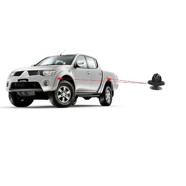 Grampo Moldura Alargador Paralama Mitsubishi L200 Pajero Dakar