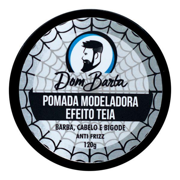 Pomada Modeladora Efeito Teia - Dom Barba: modela, fixa, dá volume.