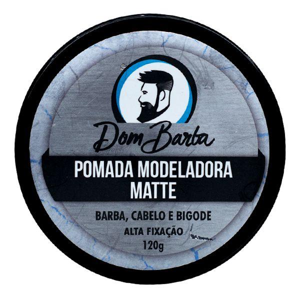 Pomada Modeladora Matte Dom Barba: alta fixação, efeito seco.