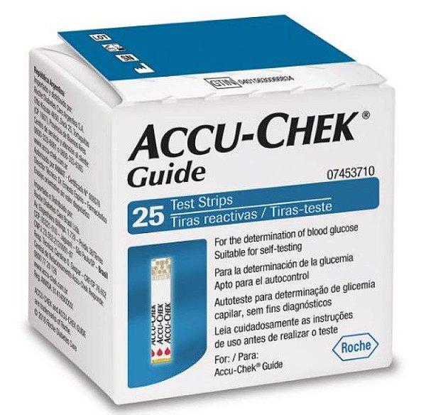 Fita Accu Chek Guide Com 25 Unid Roche