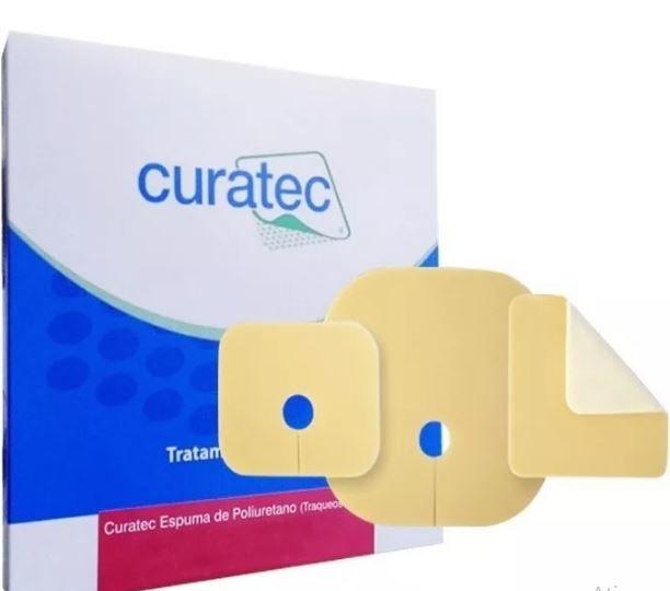 Curativo De Espuma Poliuretano Traqueostomia  6X7 Curatec