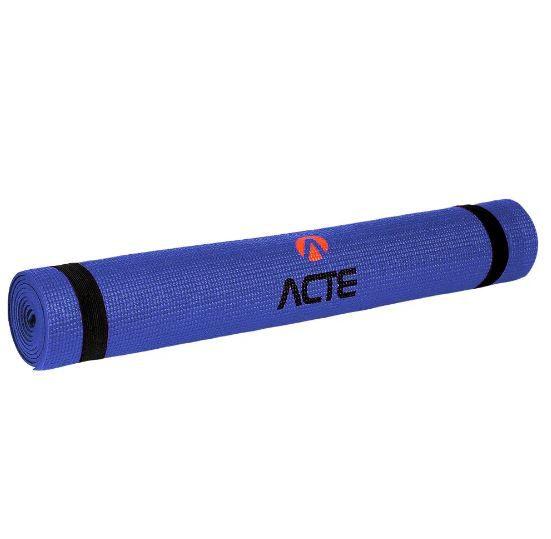 Tapete Yoga Em Eva Azul T10Np Acte