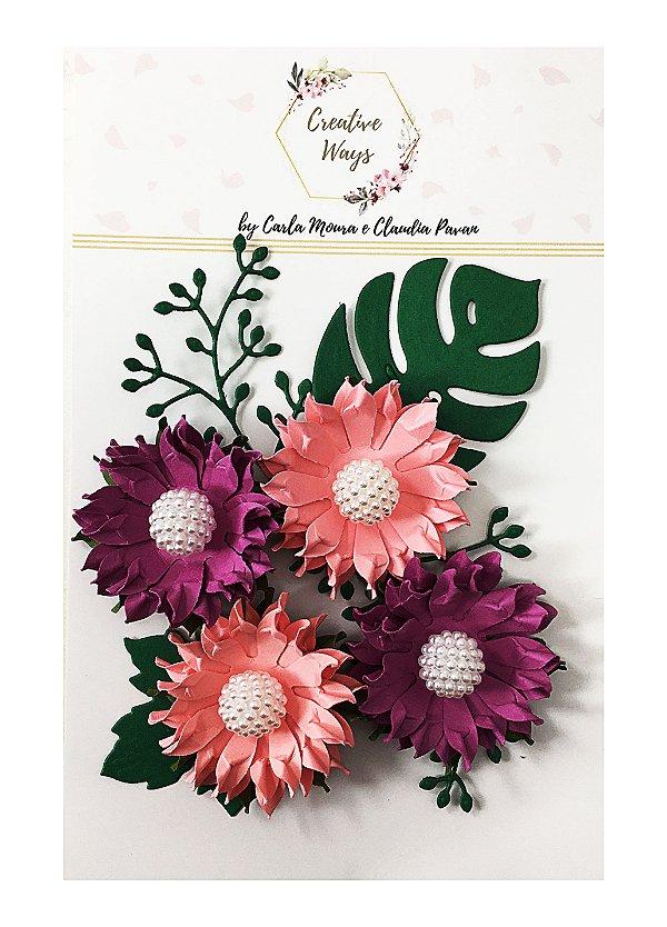 Flores de Papel P/Scrapbook Creative Ways - Pionner Village