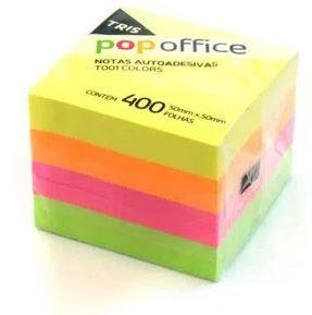 Notas Autoadesivas Pop Office 50 x 50 mm com 400 folhas Tris