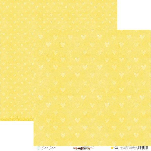Papel Para Scrap - Happy - Yellow Happy Base 40 - Carina Sartor