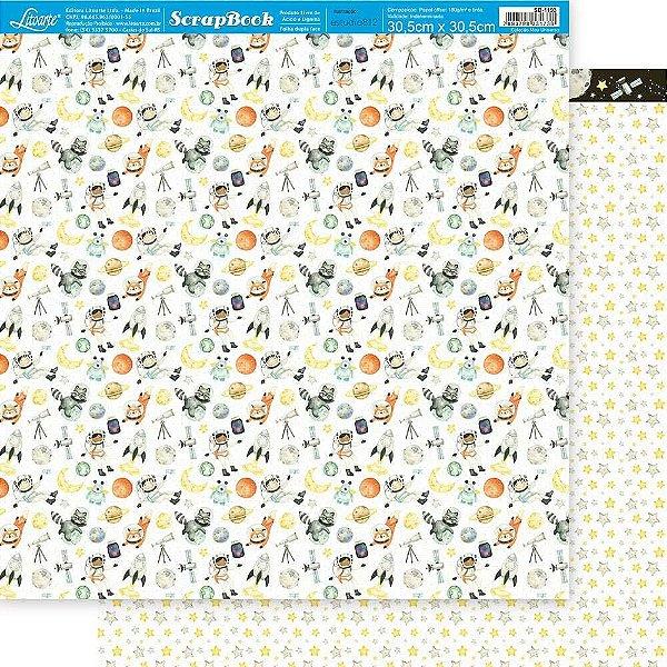 Papel Para Scrapbook 30,5 Cm X 30,5 Cm - SD-1193 - MEU UNIVERSO - PADRÃO ESTRELA